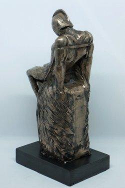Daedalus (rear view), cold cast bronze