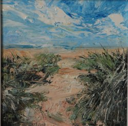 Marram Grass, oil on board, 20x20cm (sold)