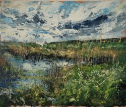 Marshes at Blakeney, oil on board, 60x50cm (sold)