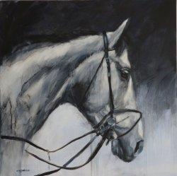 Grey, oil on canvas, 80x80cm
