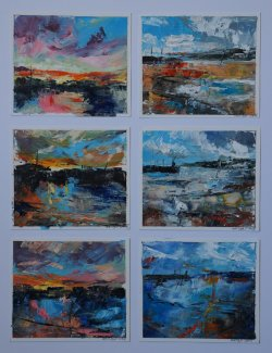 Six Studies, oil n paper (sold)