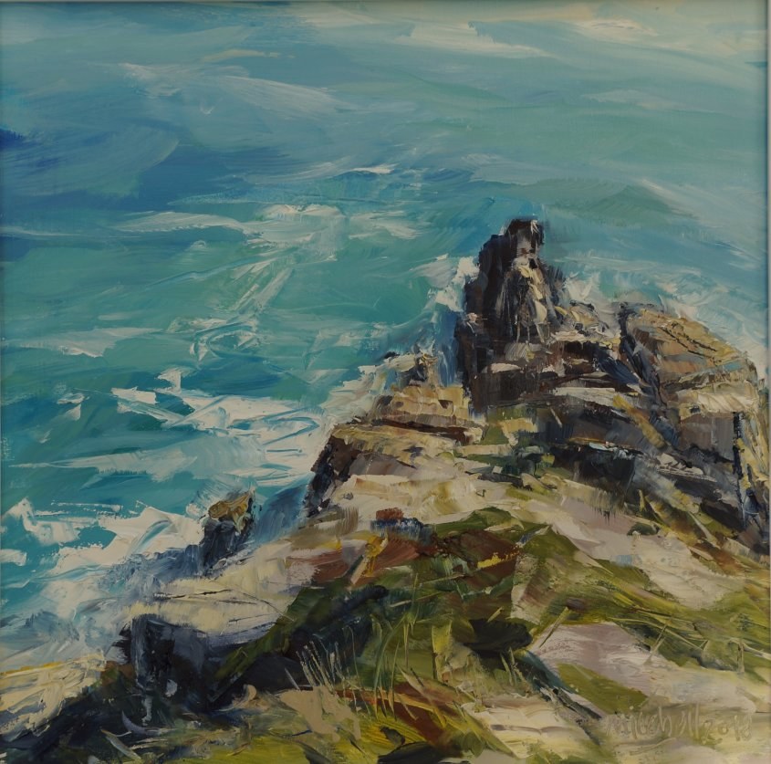 From the Minack Theatre, oil on board, 30x30cm - sold
