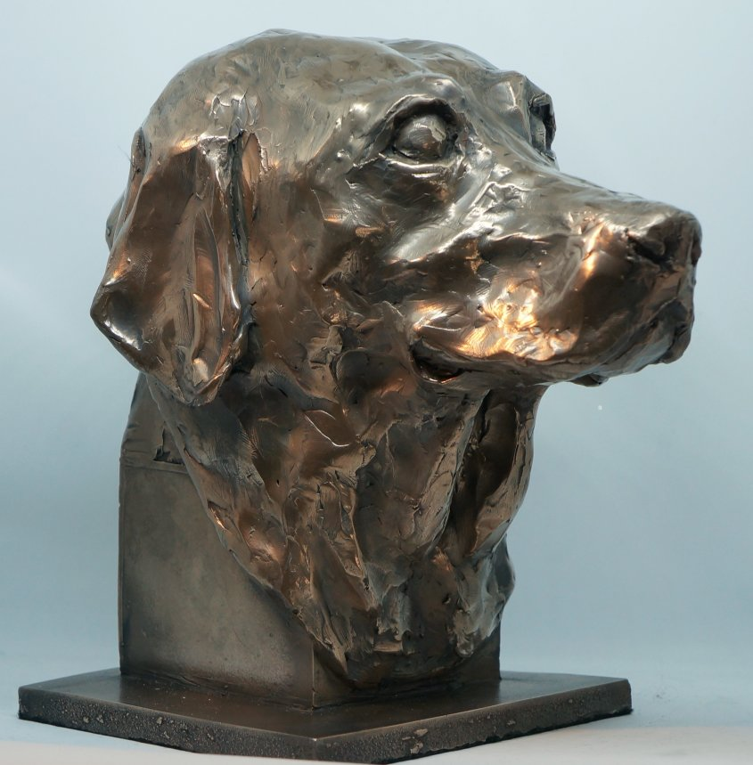 Molly, cold cast bronze, commission - NFS