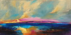 Afterglow, oil on canvas, 150x75cm - sold