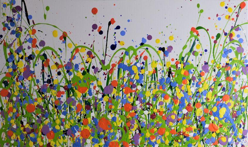 Summer's honey breath, acrylic on board, 50x30cm - £170
