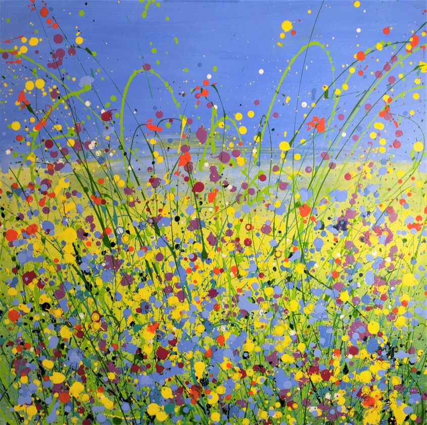 They were but so sweet delight, acrylic on canvas, 80x80cm - £375 - sold