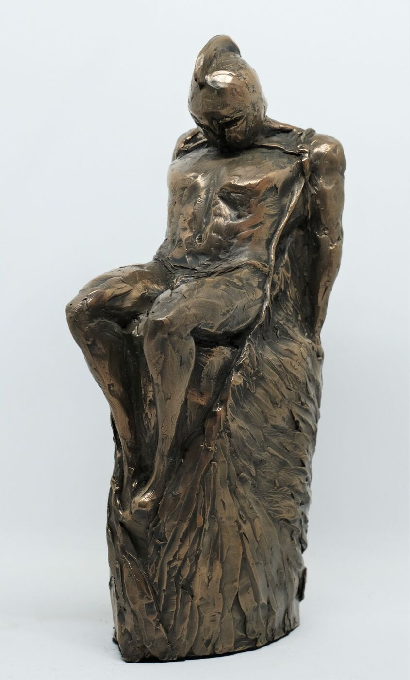 Daedalus, cold cast bronze, approx 30cm tall incl base - £90