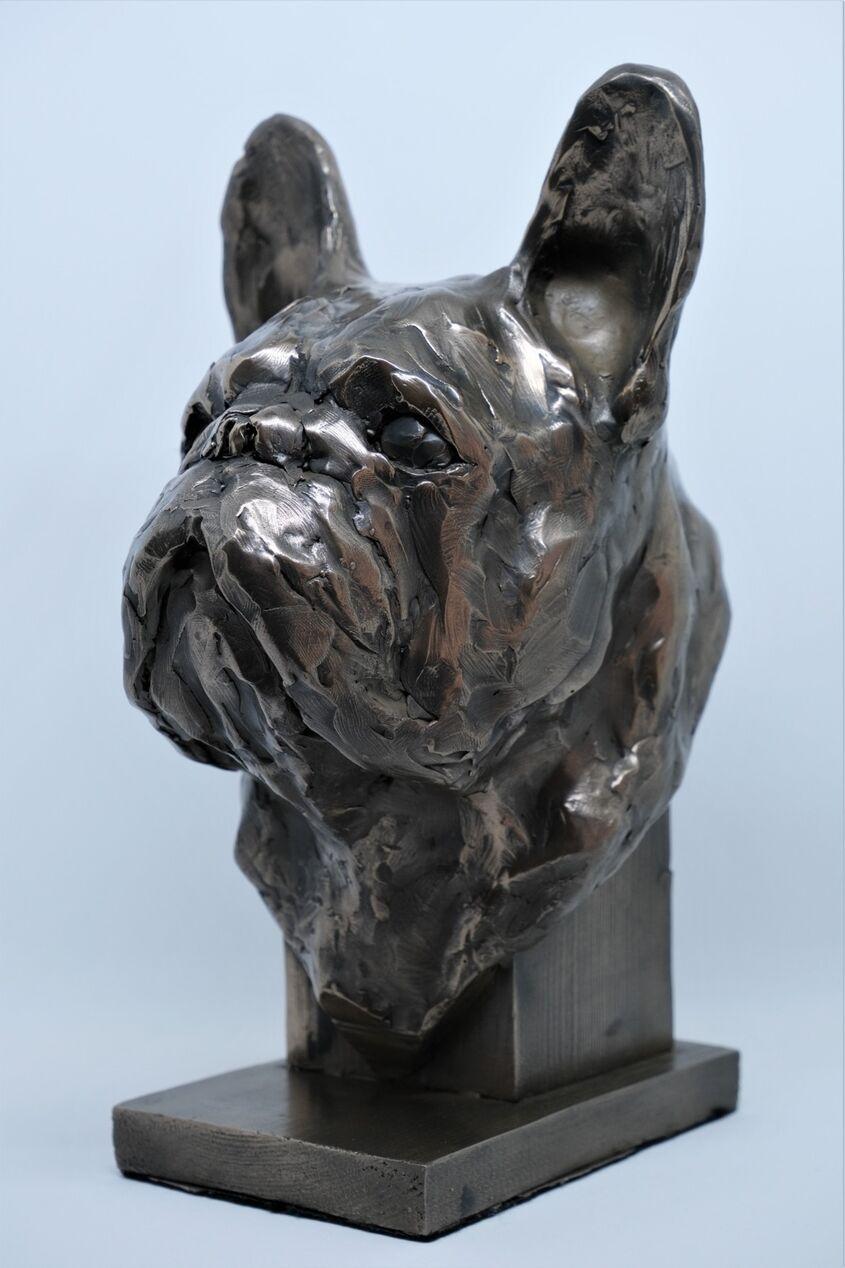 French Bulldog, cold cast bronze, 25cm tall, £90