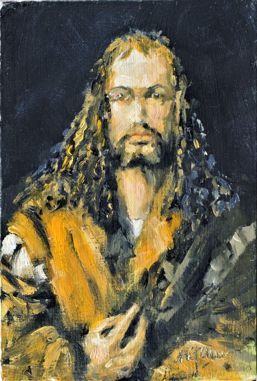Albrecht, oil on board 10x15cm, sold