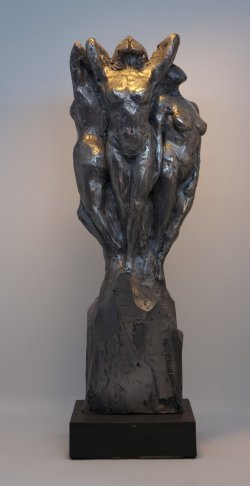 Daughters of Zeus, cold cast aluminium, approx 30cm tall