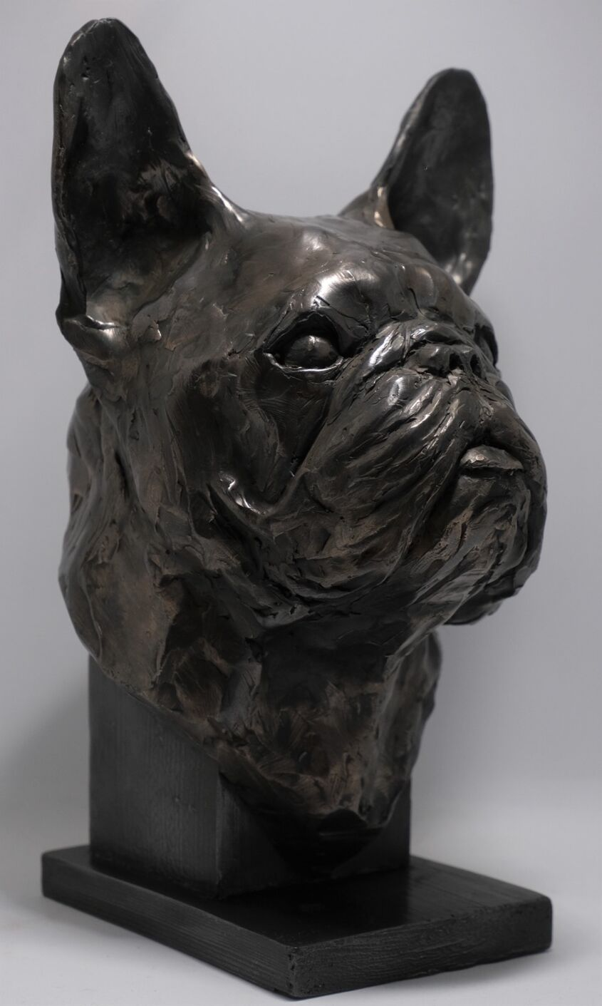 'Roy', cold cast iron and bronze. Commission piece NFS