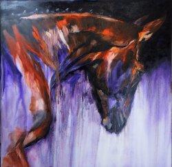 Equus, oil on canvas, 100x100cm