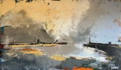 Margate Passing Storm, oil on board, 100x60cm (sold)