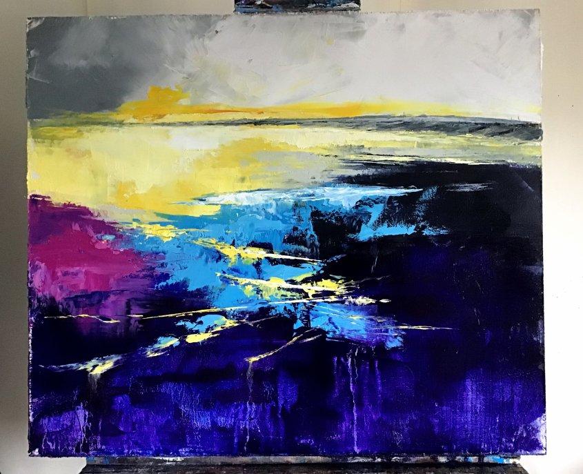 Seasalter Sunrise, oil on board, 60x50cm