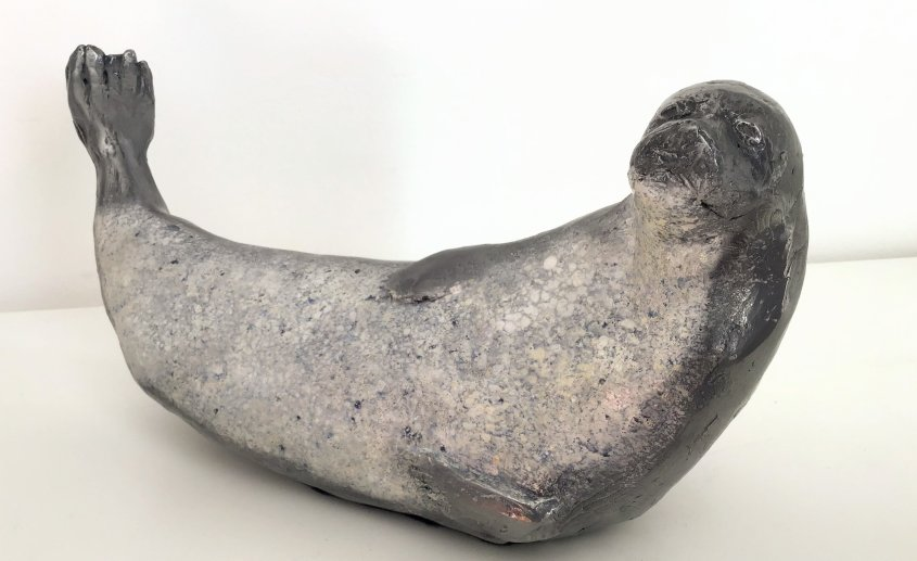 Grey Seal, cold cast aluminium - £110