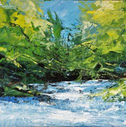 Memories of Aysgarth, oil on board, 30x30cm (sold)