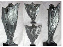 Awakening, aluminium resin, approx 30cm plus base