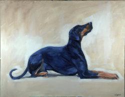 Rocky II, oil on canvas, 95x75cm