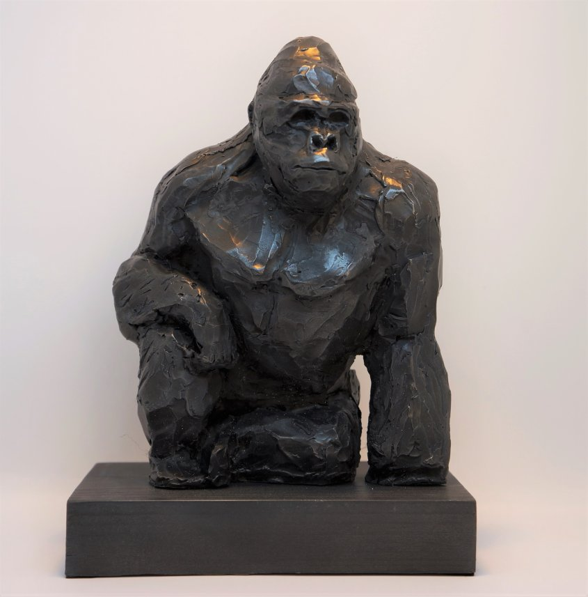 Silverback, cold cast iron, approx 25cm tall - £80