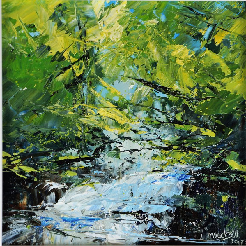Woods and Water 3,oil on board, 20x20cm (sold)