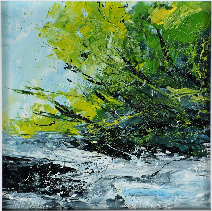 Woods and Water 2,oil on board, 20x20cm (sold)