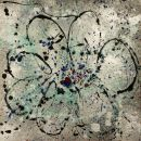 Flower, mixed media - SOLD