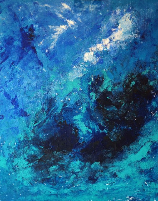 Stormy Seas, acrylic on canvas, 80x100cm (SOLD)