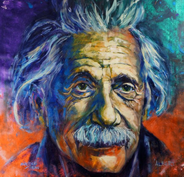 Albert, oil and acrylic on canvas, 80x80cm (SOLD)