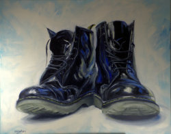 Black DMs, oil on canvas, 100x80cm