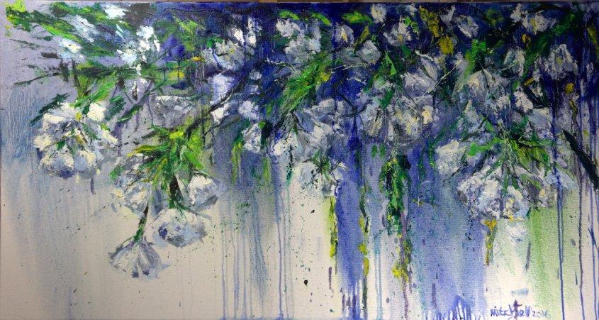 Blossom, oil on canvas, 140x75cm (NFS)