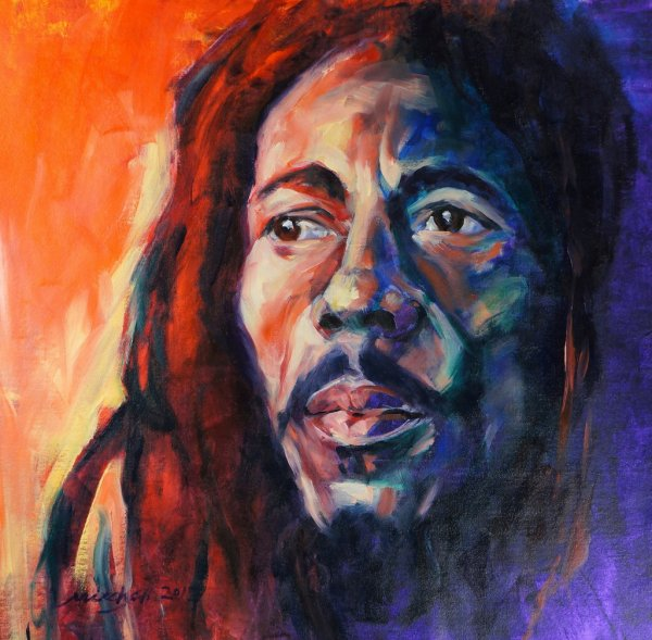 Bob, oil and acrylic on canvas, 75x75cm (sold)