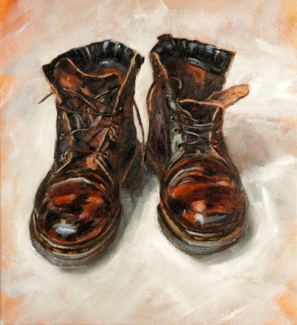 Brown Boots, oil on canvas, 55x60cm (sold)