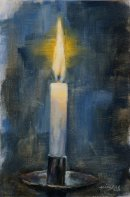 Candle, oil on board, 20x30cm