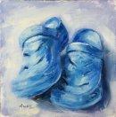 Blue Crocs, oil on board, 20x20cm (SOLD)