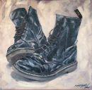 Dark DMs, oil on canvas, 50x50cm  NFS
