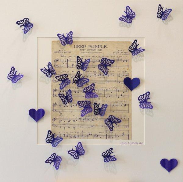 Deep Purple, collage, 50x50cm (SOLD)