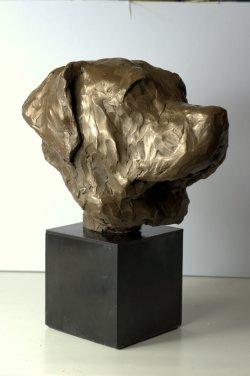 Dug, cold cast bronze