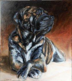 Dug, oil on canvas, 80x90cm - NFS