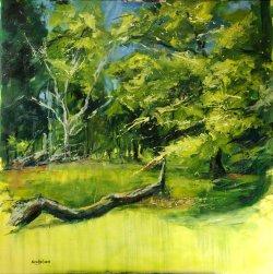 Fallen, oil on canvas, 80x80cm