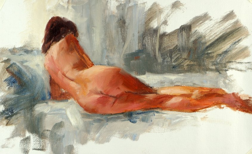 Figure study, oil on canvas, 30x20cm (sold)