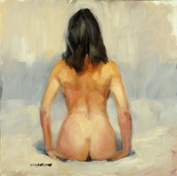 Figure Study - Back, oil on board, 32x32cm (sold)