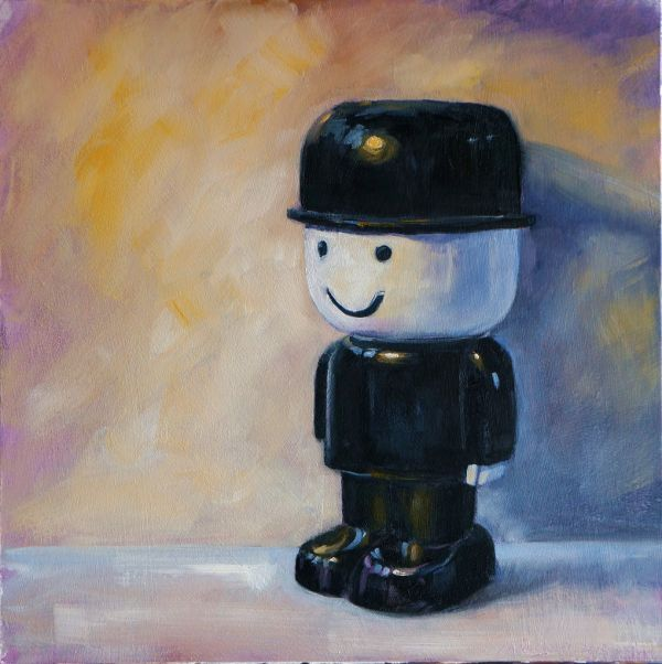 """Fred, oil on board, 12x12"""" - SOLD"""