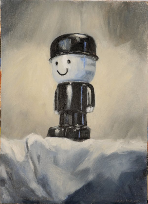 """Fred on the Edge, oil on board, 11x15"""" (SOLD)"""