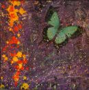 Green Butterfly, mixed media - SOLD