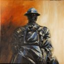 The Gun Captain, oil on canvas, 65x65cm (SOLD)