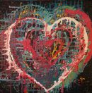Hearts, acrylic on canvas - SOLD