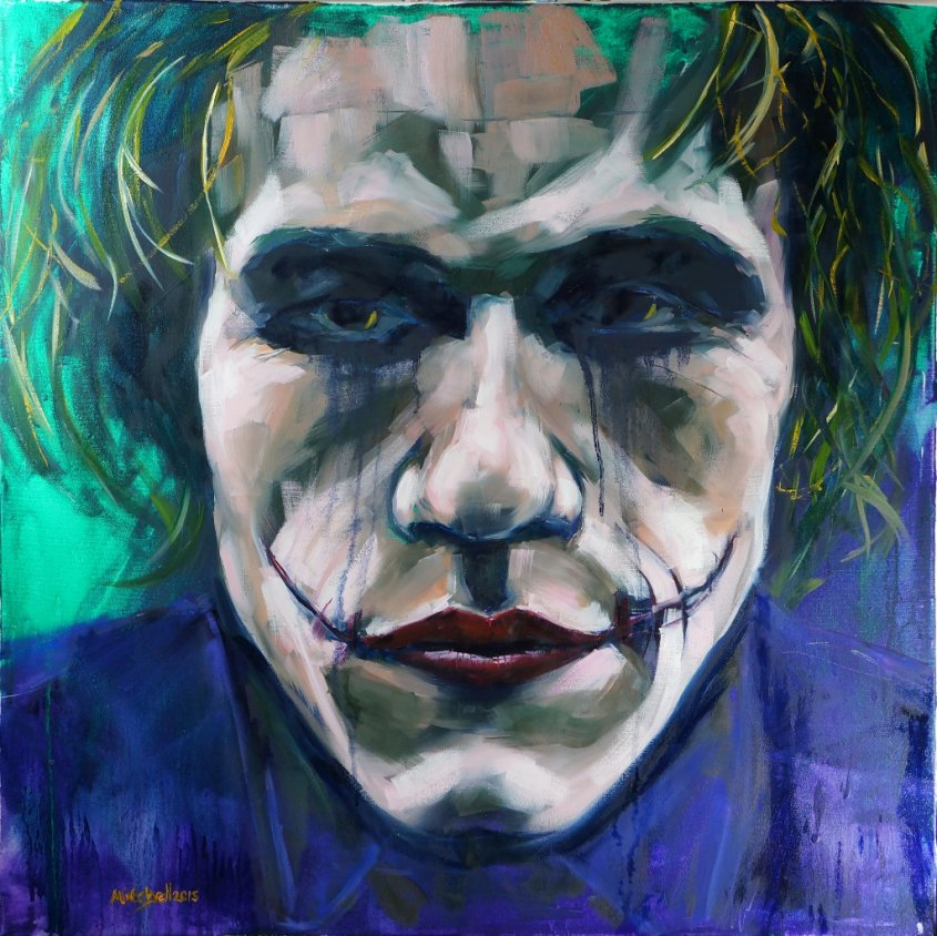 Heath, oil on canvas, 80x80cm (sold)