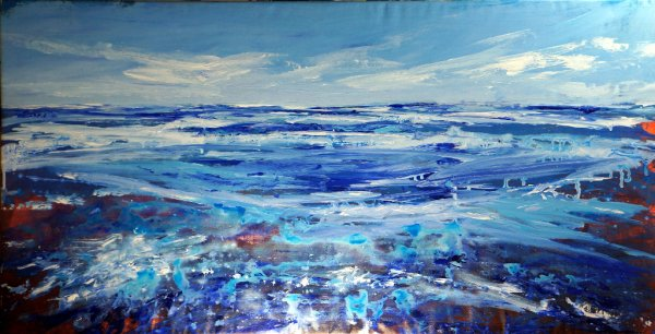 Incoming Tide, acrylic on canvas, 145x70cm (sold)