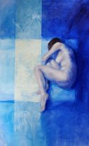 In the Blue, oil on canvas, 50x75cm (sold)