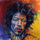 Jimi, 80x70cm, oil and acrylic on canvas